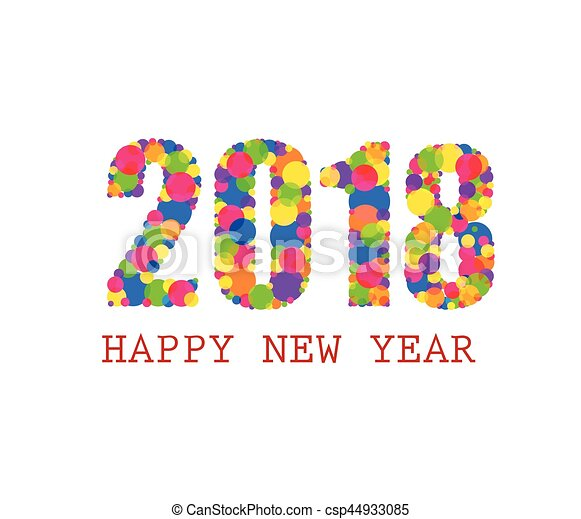 happy new year 2018 csp44933085