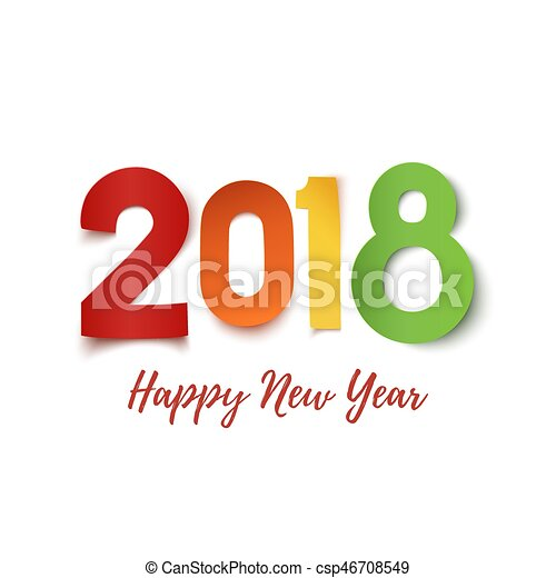 Happy New Year  Greeting Card Template Happy New Year  Eps