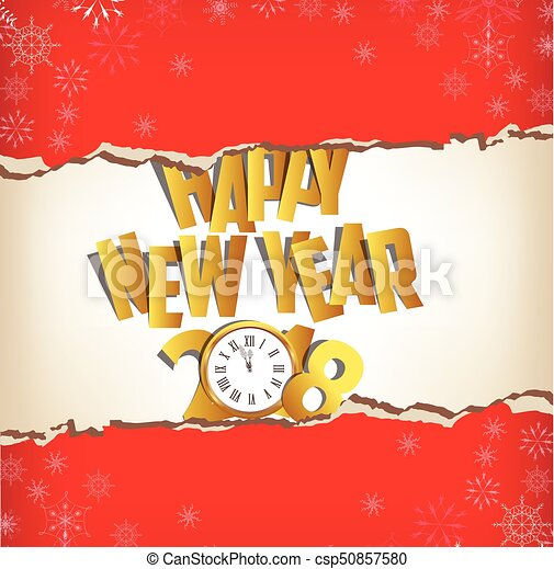 happy new year 2018 greeting card csp50857580