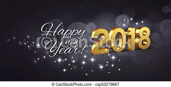 Happy new year 2018 greeting card happy new year greetings and date happy new year 2018 greeting card csp52279667 m4hsunfo