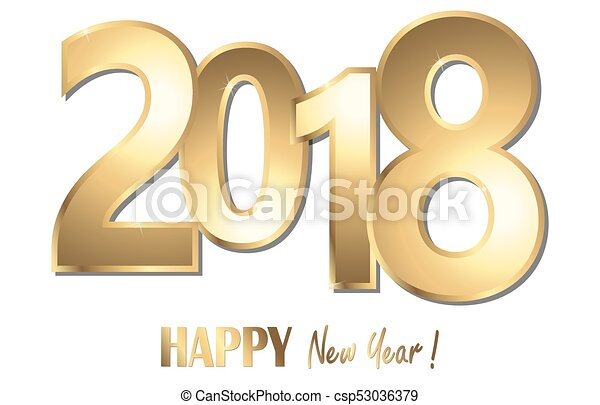 happy new year 2018 greetings background - csp53036379
