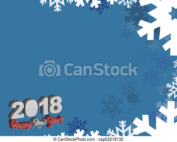 Happy new year 2018 holiday winter card - csp53218132