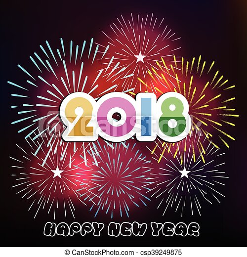 happy new year 2018 csp39249875