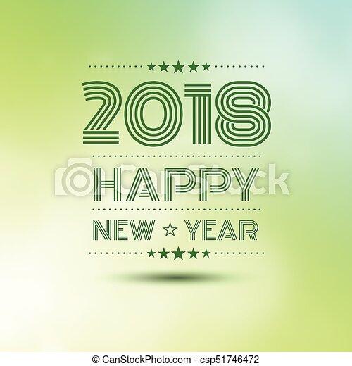 Happy new year 2018 - csp51746472