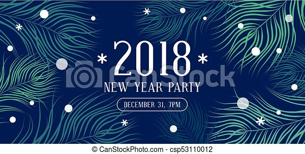 happy new year 2018 party invitation csp53110012