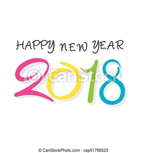 Happy New Year 2018 Poster Design   Csp51786523