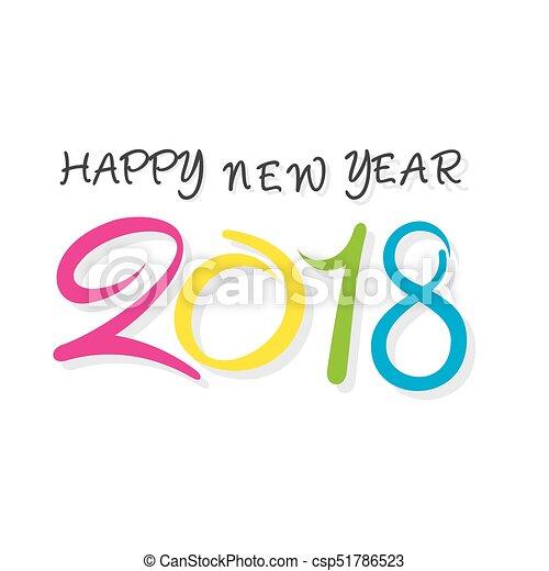 Happy New Year 2018 Poster Design   Csp51786523