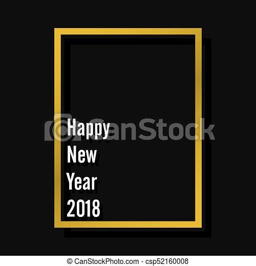 happy new year 2018 poster design - csp52160008