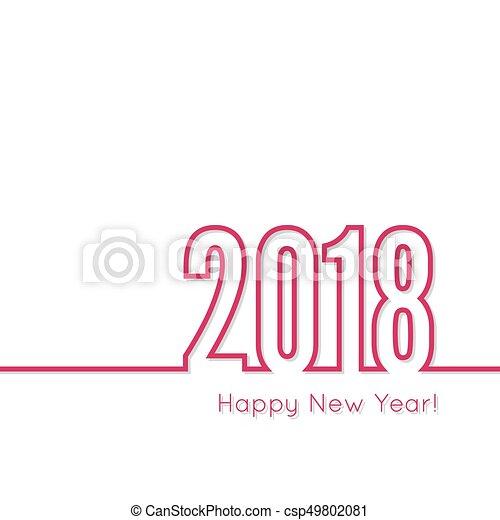 happy new year 2018 theme csp49802081
