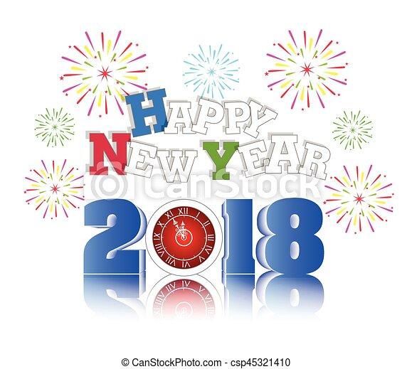 happy new year 2018 csp45321410