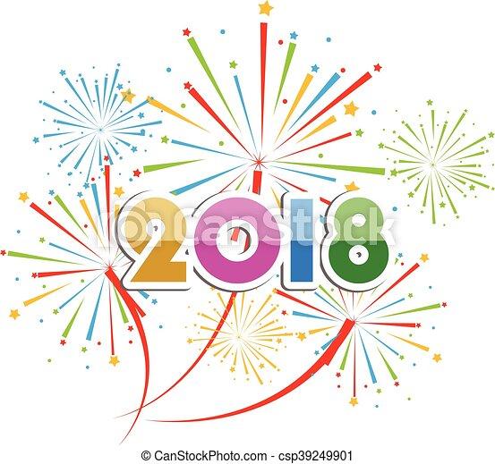 happy new year 2018 csp39249901
