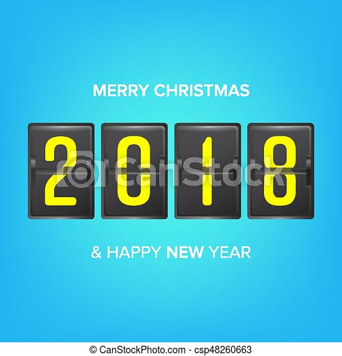 happy new year 2018 vector merry christmas greeting card blank