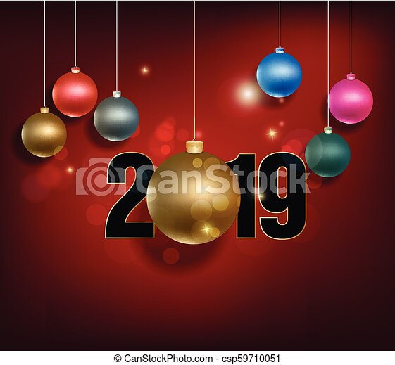 Christmas Graphics 2019.Happy New Year 2019 And Merry Christmas