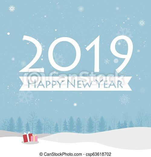 Happy New Year 2019 Card - csp63618702