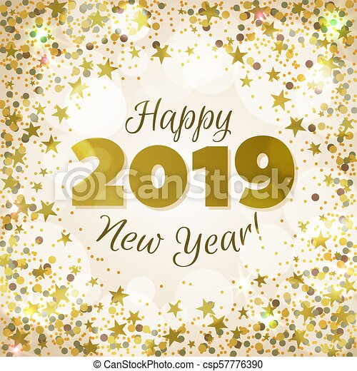 Happy new year 2019 greeting banner. festive background with ...