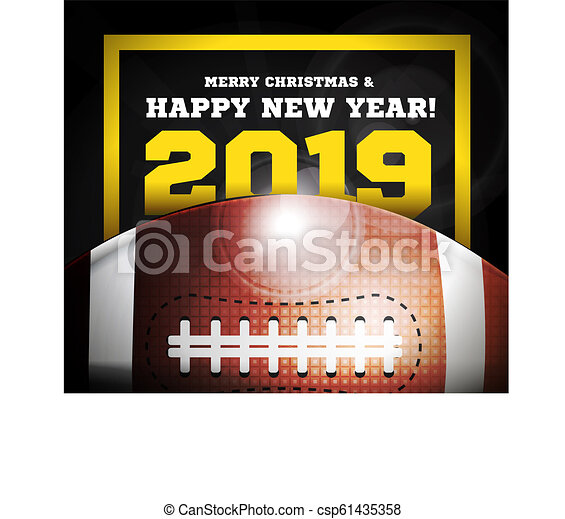 Happy New Year 2019 On The Background Of A Ball For American