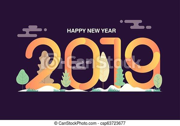 Happy New Year Flat Design 41