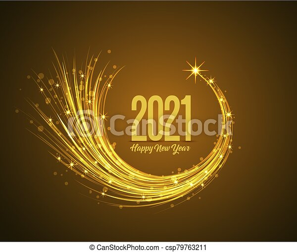 Happy New Year 2019 Happy New Year 2021 Vector Illustration Christmas Background