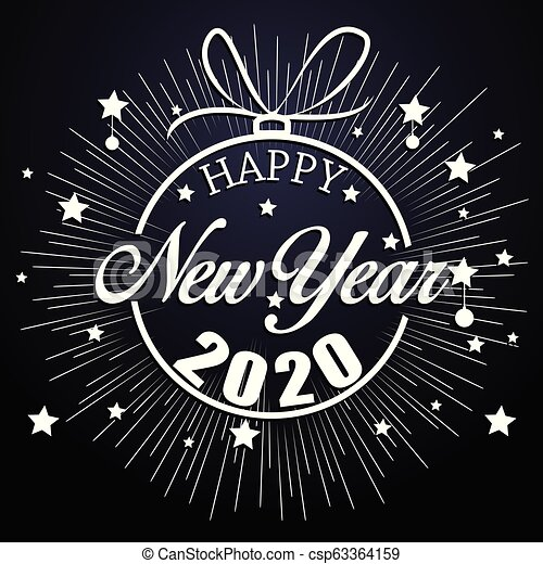 Happy New Year Clipart 2020 56