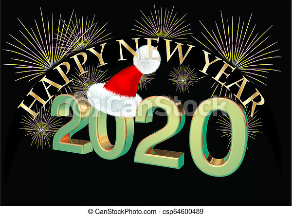 Happy New Year Clipart 2020 71