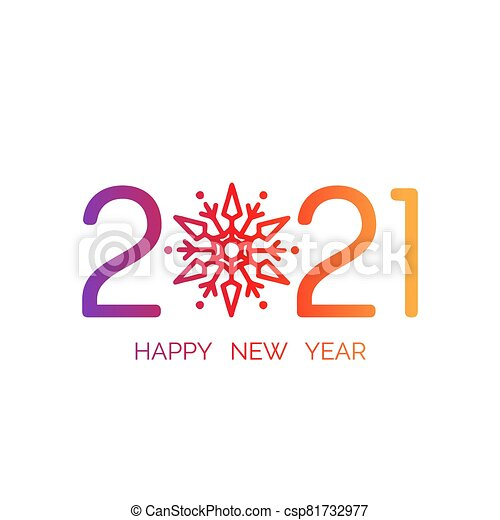 happy new year 2021 banner vector illustration with colorful numbers with trendy gradient merry christmas and happy new can stock photo