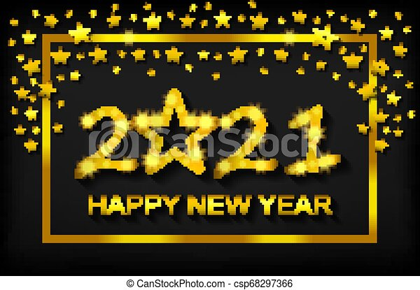 Happy new year 2021 - greeting card, flyer, invitation ...