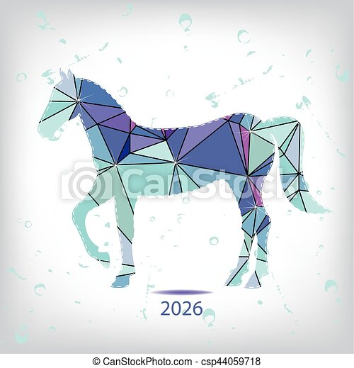 Happy new year 2026 creative greeting card with horse made for What can you make out of horseshoes