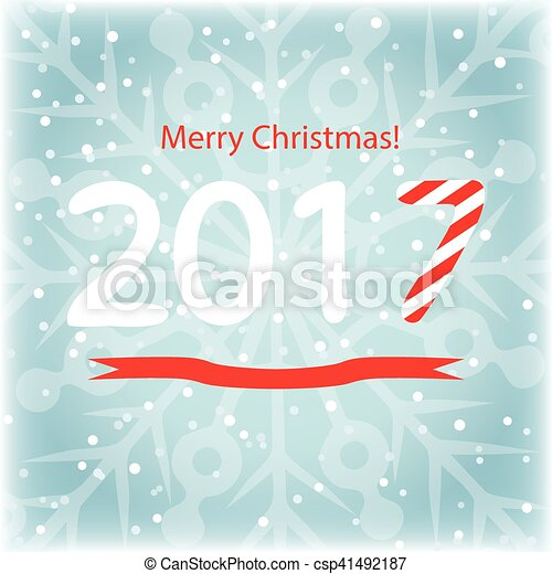 happy new year and merry christmas gift cards vector illustration download 2017 in the form of christmas candy festive banner with snow and snowflakes
