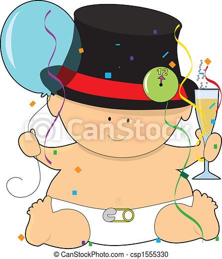 happy new year baby csp1555330