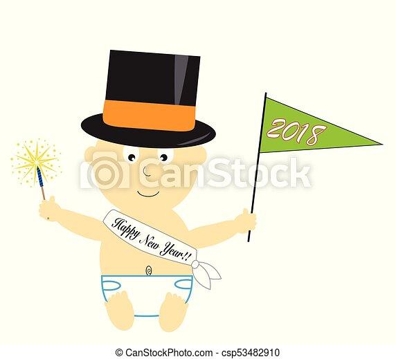 Happy New Year Baby - csp53482910