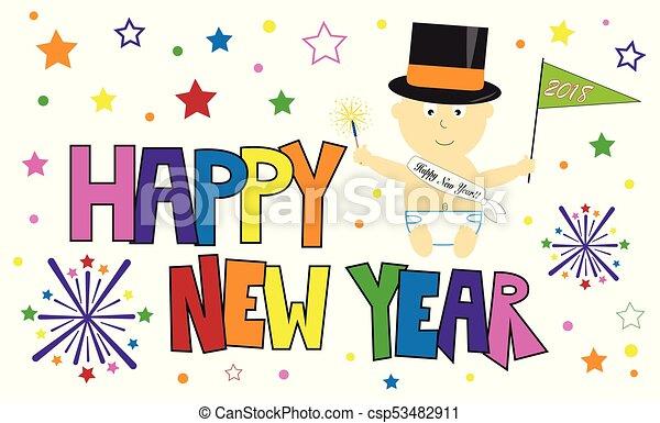 Happy New Year Baby - csp53482911