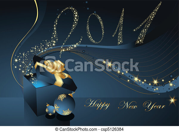 Happy New Year background - csp5126384