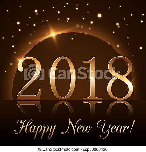 happy new year background gold 2018 csp50880438