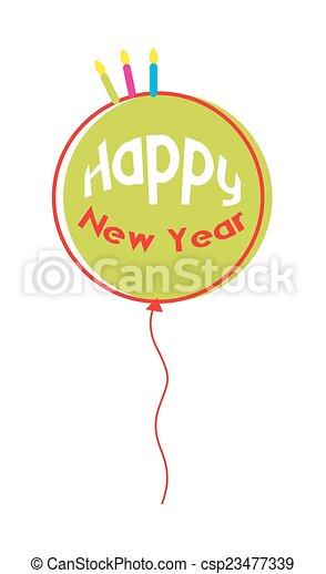 happy new year balloon csp23477339