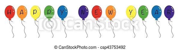 Happy New Year Balloons - csp43753492