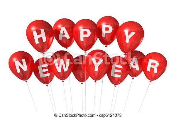 happy new year balloons csp5124073