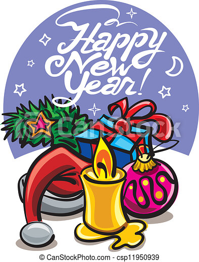 happy new year card - csp11950939