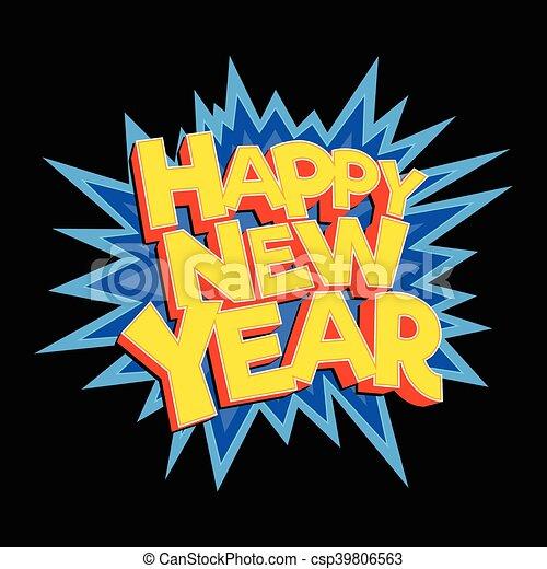 Happy New Year - csp39806563