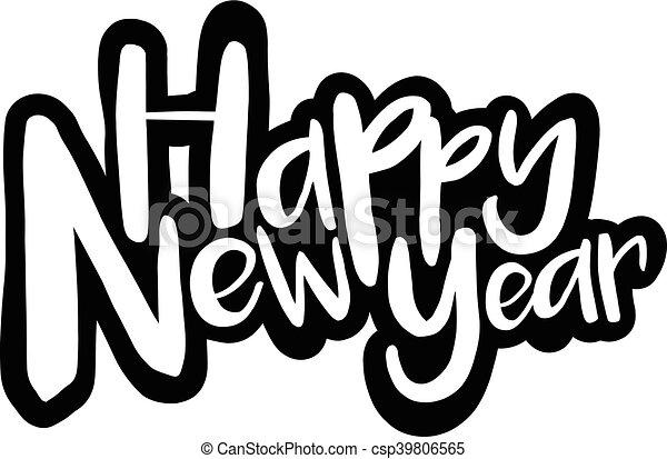 Happy New Year - csp39806565