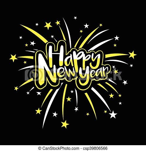 Happy New Year - csp39806566