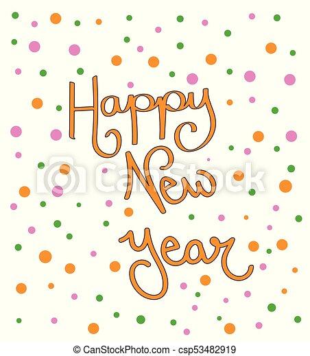 happy new year confetti csp53482919