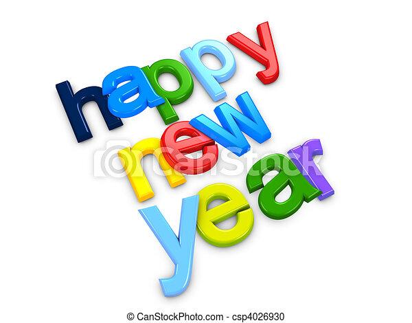 Happy new year - csp4026930