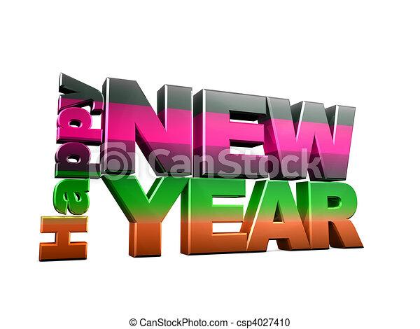 Happy new year - csp4027410
