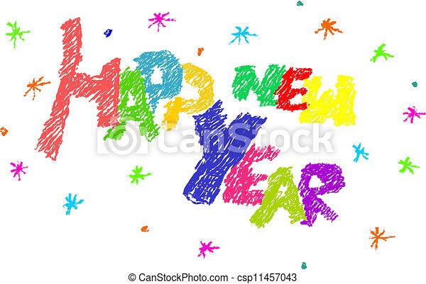 Happy new year. - csp11457043