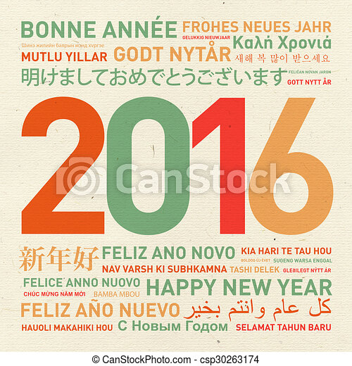 Happy new year from the world - csp30263174