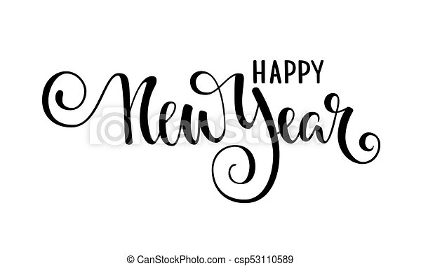 Happy New Year Lettering Design 82