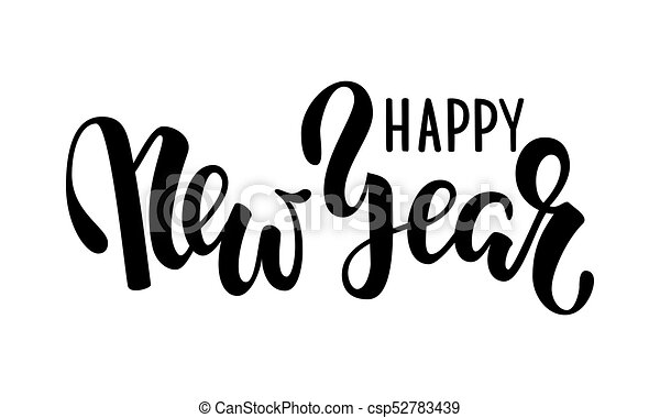 Happy New Year Lettering Design 57
