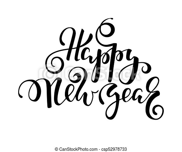 Happy New Year Lettering Design 48