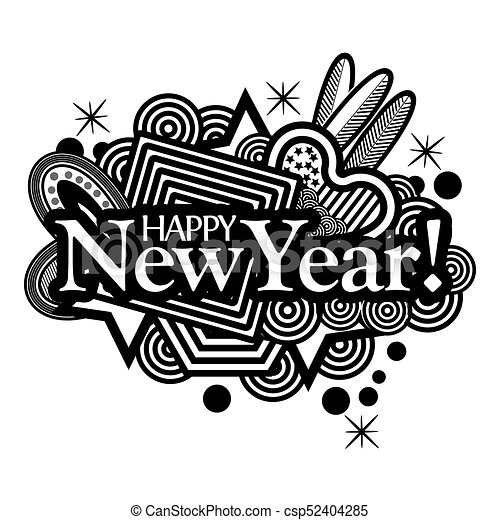 Happy New Year Doodle 102
