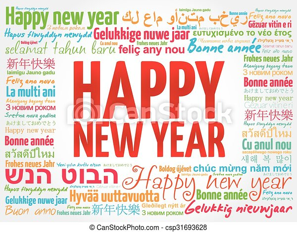 Happy new year in different languages greeting card happy new year happy new year in different languages greeting card csp31693628 m4hsunfo